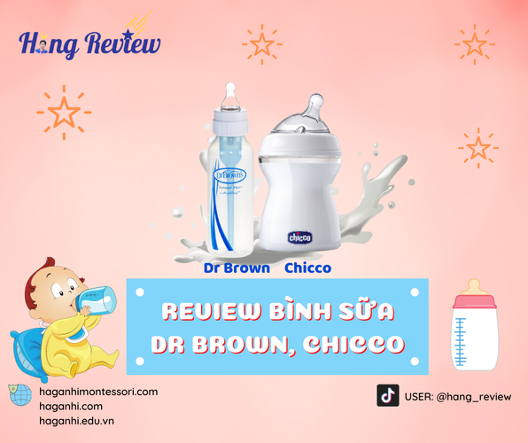 REVIEW BÌNH SỮA DR BROWN, CHICCO